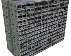 Asian Block of flats 3D asset