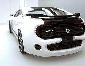 3D asset Affekta Deamon Concept Sport Car