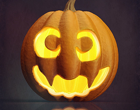 Halloween pumpkin Jack O Lantern 3D model fantasy
