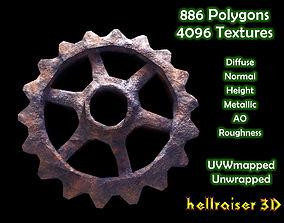 3D model Gears - Textured 3d