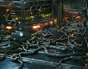 Alien Tendrils 22 Variants and Environment - 3D realtime 2
