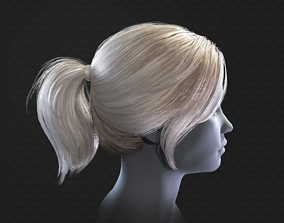 3D asset Real-time ponytail