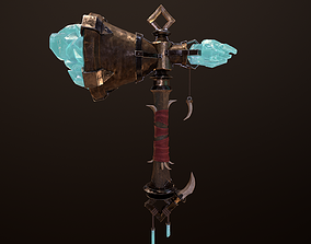 3D model Fantasy Hammer PBR with HD detailed Textures