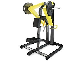Technogym - Plate Loaded - Low Row 3D