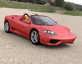 3D Ferrari 360 Spider 2000 for DAZ Studio