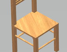 wooden chair 3d 3D