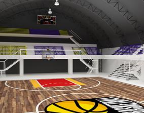 Basketball Gym Covered 3D hall