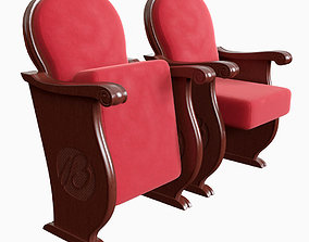 Classic Red Theater Seat 3D