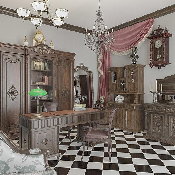 Interior of an antique salon