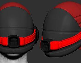 helmet scifi high poly ver 7 sculpt 3d printable
