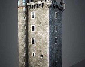 3D model Scrabo Tower
