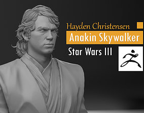 Hayden Christensen - Anakin Skywalker - 3D print model 3
