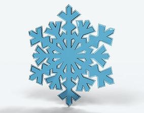 3D model ice Snowflake