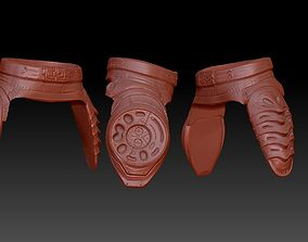 3D printable model predator 2 inspired lower armour