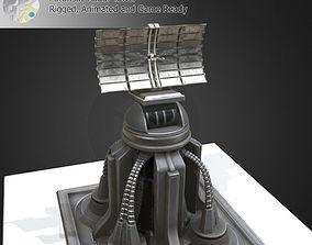 3D asset Futuristic Radar Tower