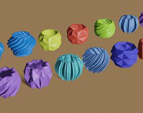 Succulents planters - 13 pieces 3D printable model