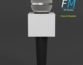 3D model News microphone