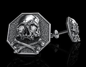 3D print model skull earrings studs 3dprint