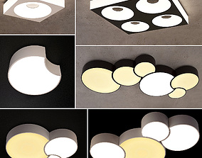 3D Ceiling lamps set 023