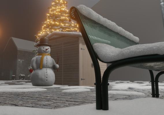 Blender-2.91 Real Snow Test-3