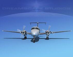 3D Beechcraft B1900C Bare Metal