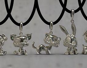 3D print model ermine pendants