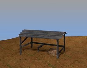 3D asset Wooden stable
