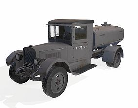military truck with cistern 3D asset