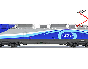 Exo ALP-45DP Locomotive Train 3D