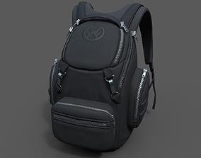 Human Backpack scifi ver 3 3D model