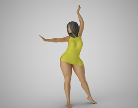 Girl Having Fun 3 3D printable model