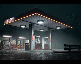 Atmospheric Gas Station Unreal 4 Scene 3D model