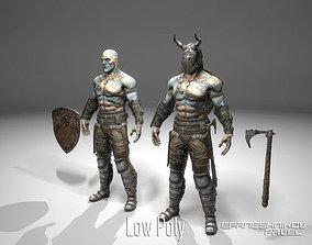 Barbarian warrior 3D asset
