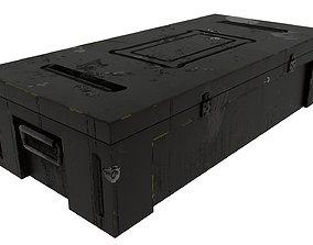 Weapon case box 3D model low-poly