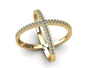 X ring 3D print model