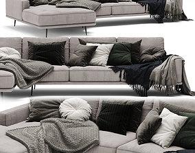 3D model Boconcept Carlton Sofa velvet
