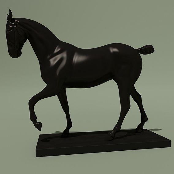 Modern Horse Elegant Bronze Statuette