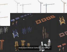 3D Tower Crane Modular Collection
