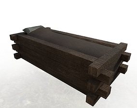 Anglo-Saxon Bed 3D asset