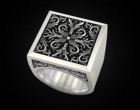 Paterns Secret Compartment ring 3D print model