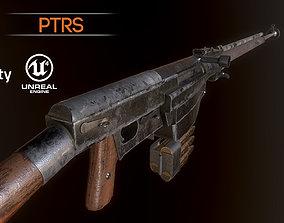 3D asset PTRS-41 ussr ww2 anti-tank rifle pbr