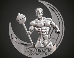 3D print model Mr Olympia medal bodybuilding trinket