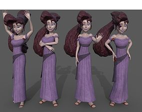 3D asset Meg Megara Disney lowpoly rigged
