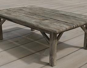 Medieval Table 3D asset VR / AR ready