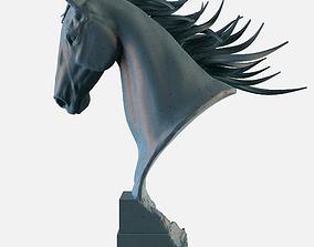 3D printable model Horse Head Statue