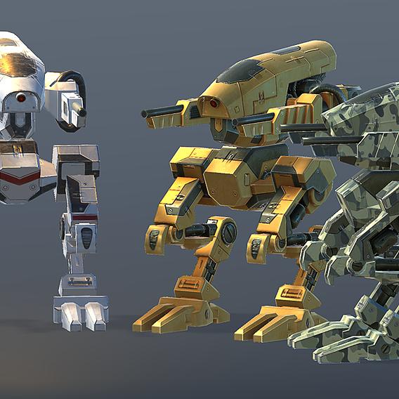 Robot 3 Low-poly