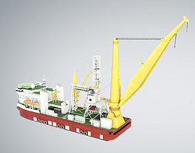 3D PIPELAY CRANE VESSEL