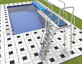 Swimming pool 3D asset