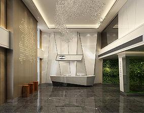 3D model Office meeting room reception hall 34 office