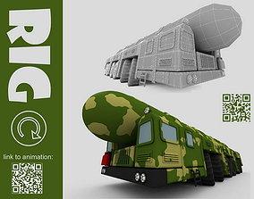 ballistic missile system 3D model